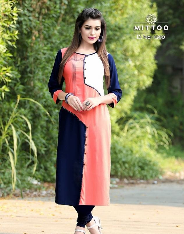 e3fb323083 MITTOO PALAK VOL 5 – Heavy rayon fabric print with patterns stylish kurtis