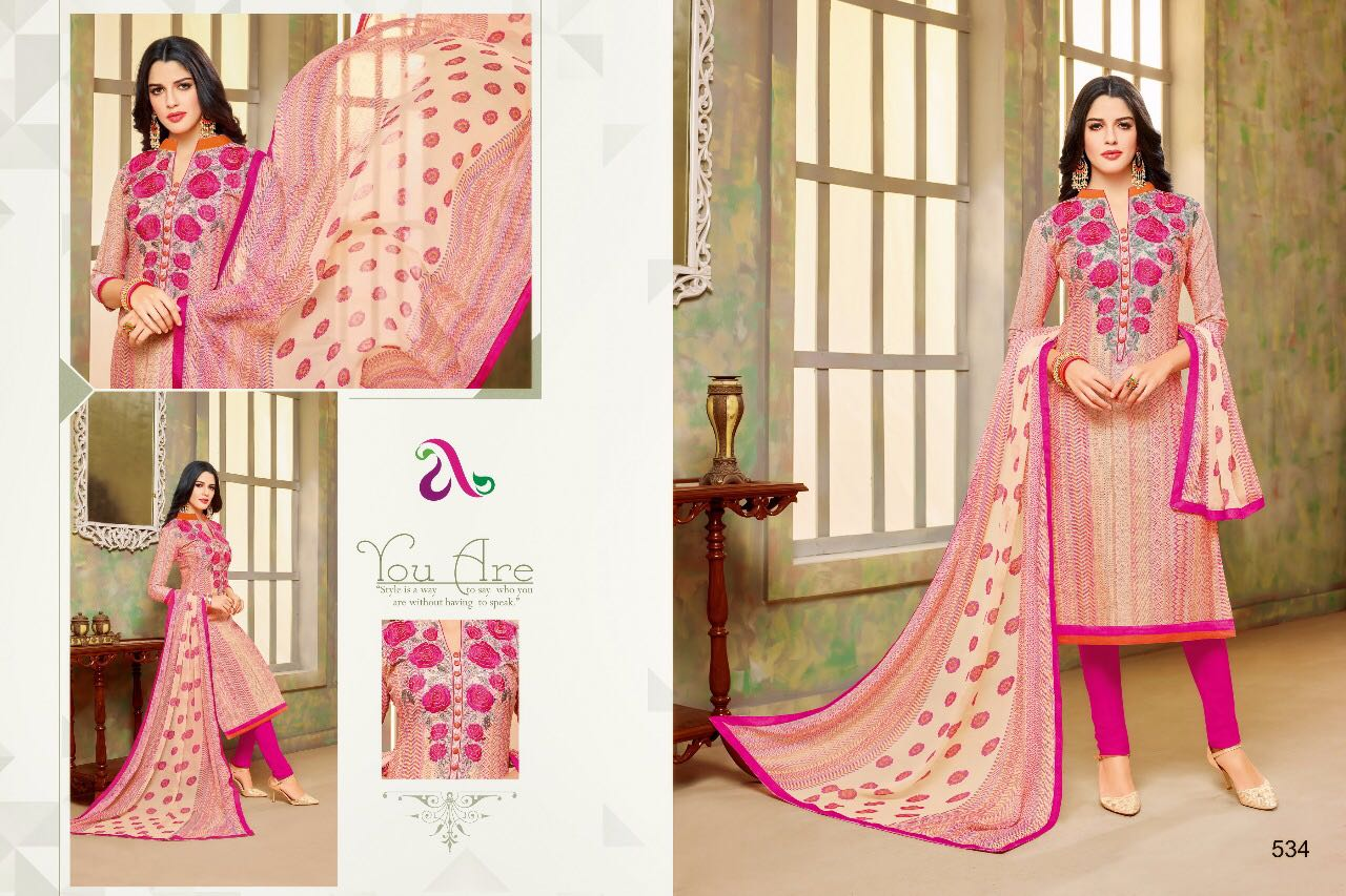 844e8a4937 DAIRY MILK VOL 20 – Chanderi cotton fabric print with embroidery work casual  salwar kameez
