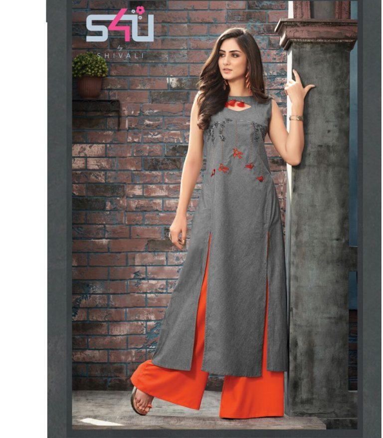 9942d083d3 S4U LIP STICK VOL 2 – Rayon cotton fabric print with work readymade kurtis  with plazzo bottom