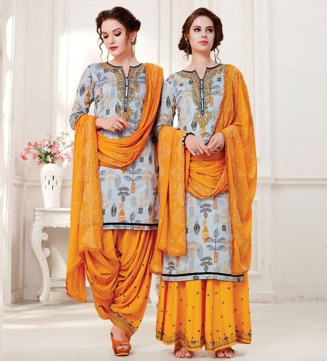 COLOUR'S by PATIALA HOUSE VOL  6 - Satin Cotton fabric