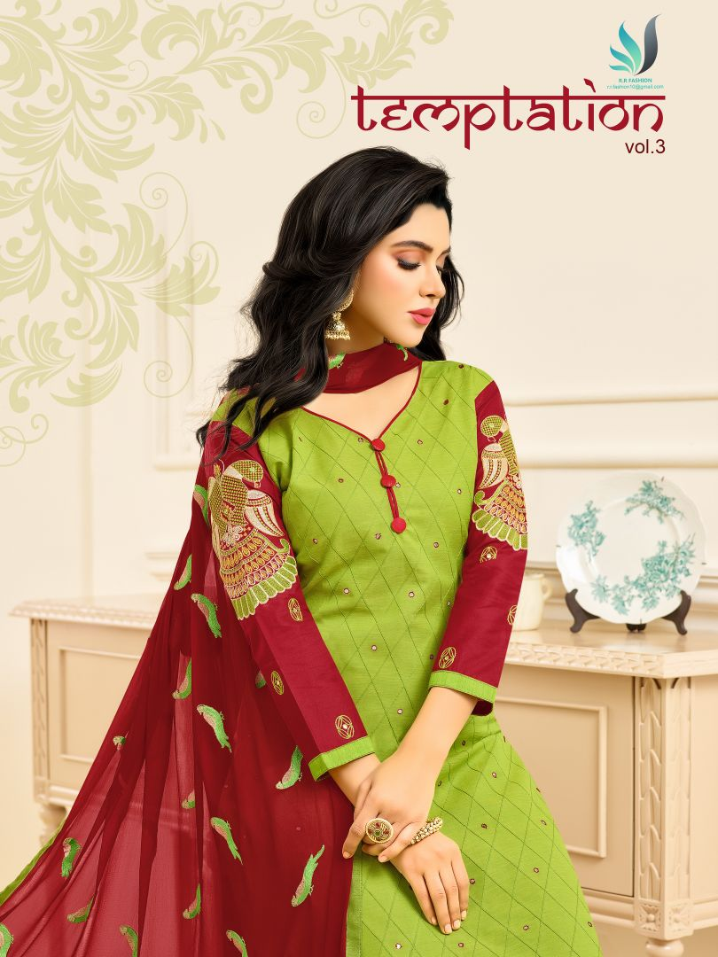 7bd9c766b TEMPTATION VOL 3 - South Cotton fabric pintex with embroidery work ...