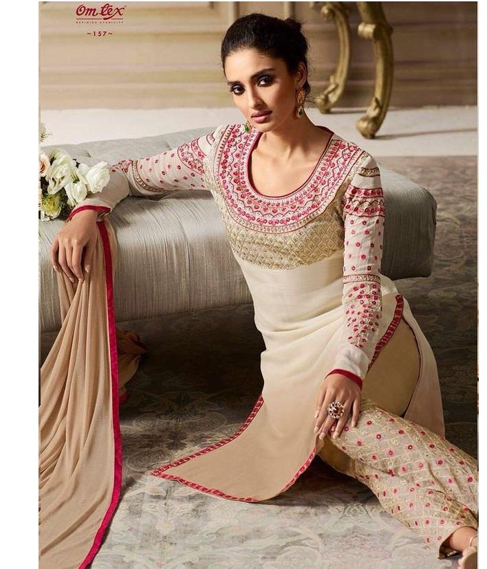22944a537e OMTEX ARTISTRY – Georgette fabric embroidery work party-wear salwar kameez