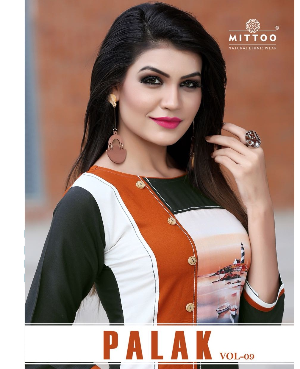 e57e772102 MITTOO PALAK VOL 9 – Heavy rayon fabric print with patterns stylish kurtis