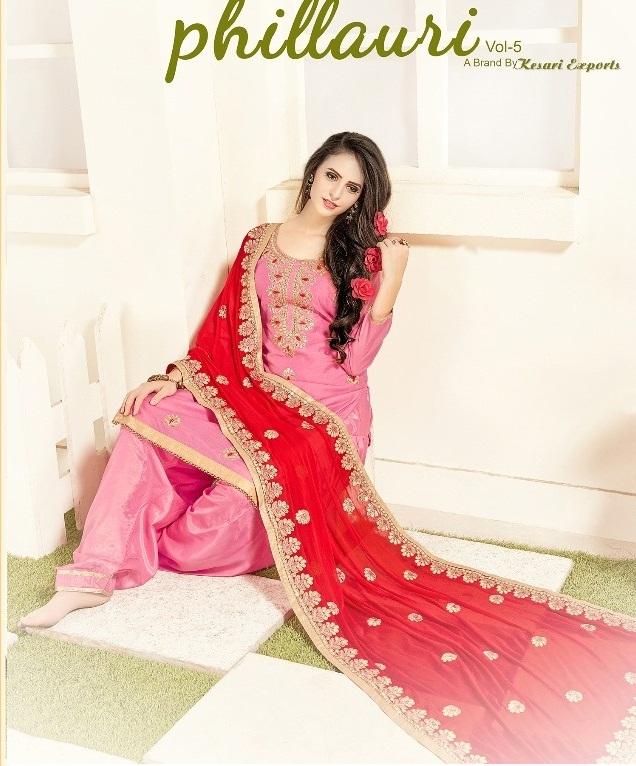 2650d1f8ae PHILLAURI VOL 5 – Chanderi fabric gota pati work salwar kameez with chiffon  gota patti work dupatta