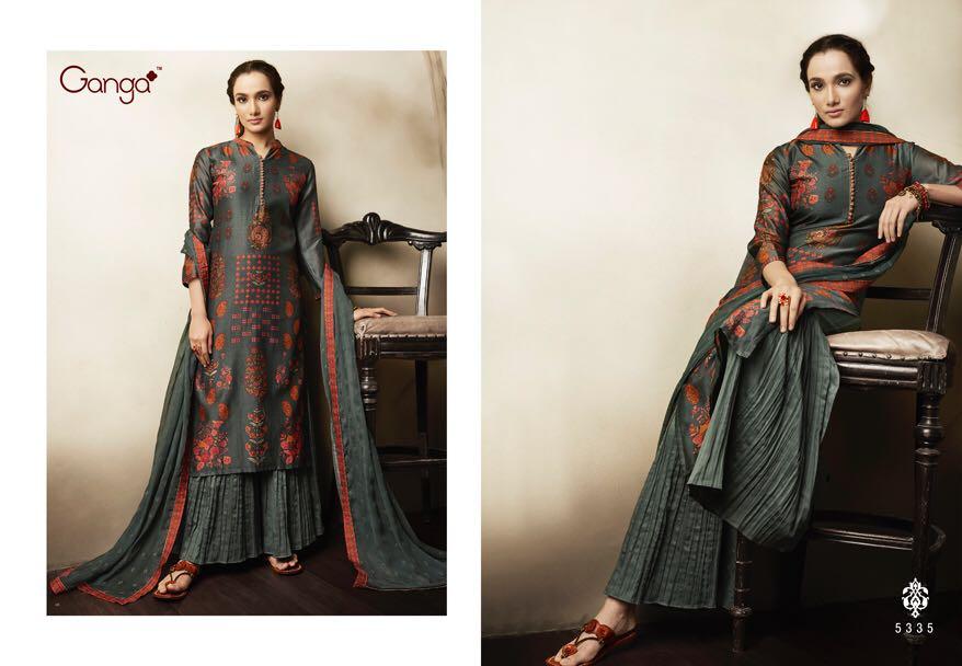 820eb41481 GANGA ELIZA - Pure lawn Cotton fabric print with work top with ...