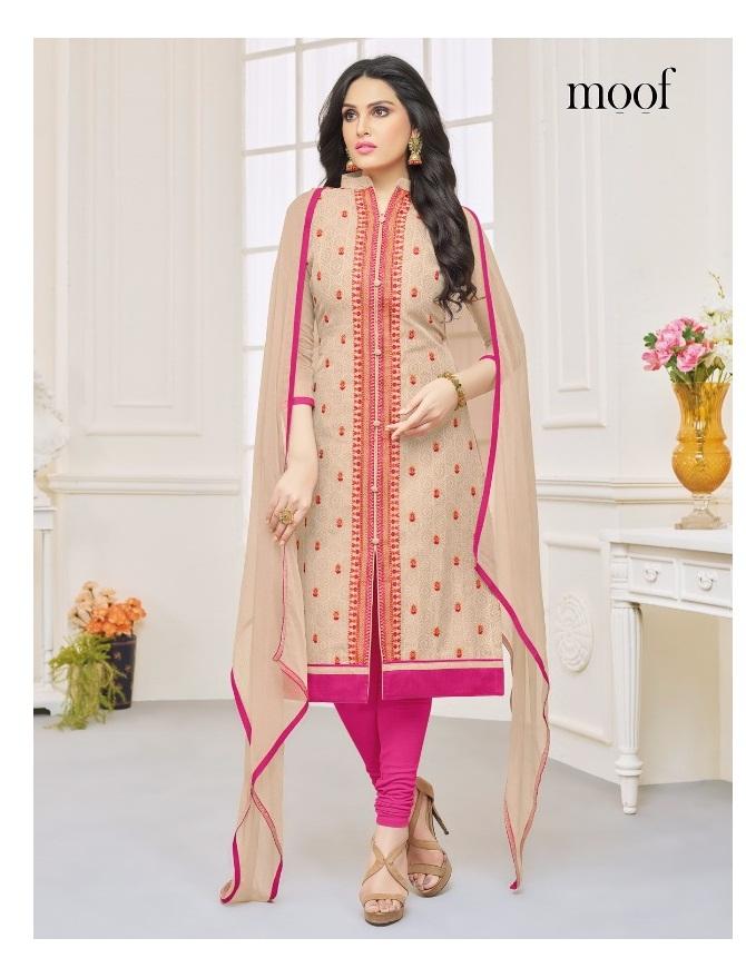 5b4f2af356 SHAISTA VOL 5 – Chanderi silk fabric embroidery work with cotton printed  inner salwar kameez