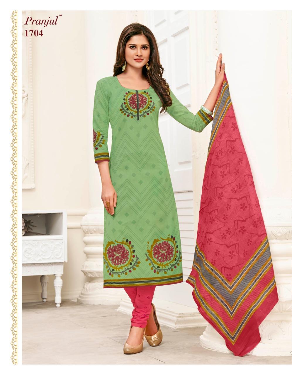 8e5d0608d8 PRANJUL PRIYANSHI VOL 17 – Pure cotton fabric printed casual wear churidar  salwar suit