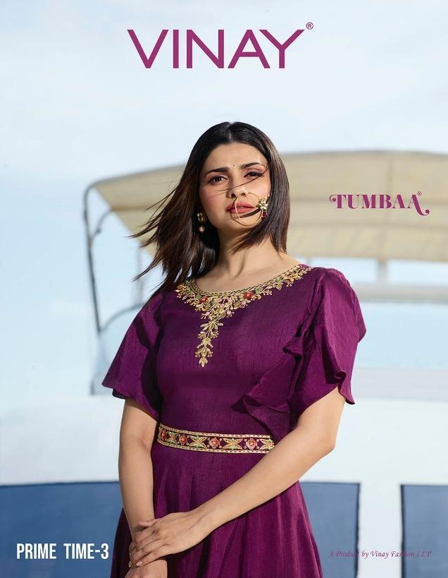 3581302f07 TUMBAA PRIME TIME VOL 3 – Silk fabric embroidery work ready-made kurti with  organza dupatta