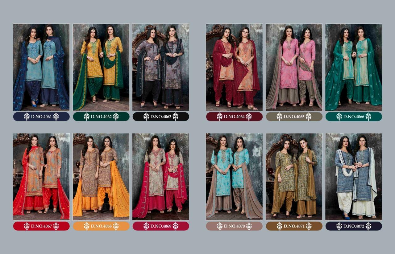 COLOUR'S by PATIALA HOUSE VOL 11 - Cotton satin fabric print