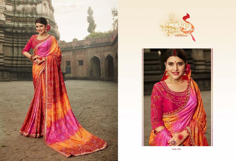 e4d2ac0b0af2ad KESSI BANDHEJ VOL 9 - Dola silk fabric printed bandhej with ...