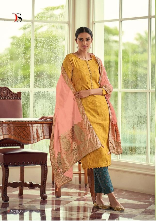 bc8ae35773 DEEPSY FAIRY TALE – Pure Jam Silk cotton print with work top with cotton  foil printed dupatta salwar kameez